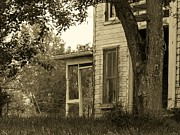 Abandoned Houses Photo Metal Prints - Old Country Porch Metal Print by Joyce  Kimble Smith