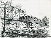 Old Covered Bridge Print by Samuel Showman