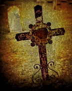 Grave Photos - Old Cross by Perry Webster