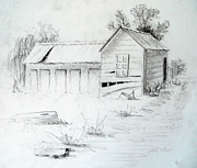 Bales Drawings - Old Dairy by Carol McLagan