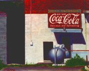 Coca-cola Sign Paintings - Old Deli by Robert Henne
