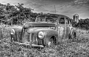 Overgrown Metal Prints - Old DeSoto Metal Print by Scott Norris