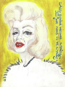 Superstar Mixed Media Posters - Old Diva Poster by Andreea Paraschiv
