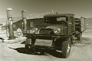 Photo Digital Art - Old Dodge Truck - Black and White by Peter Art Prints Posters Gallery