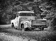Antique Automobiles Photos - Old Dodge Truck by Brian Mollenkopf