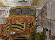 Events Painting Originals - Old Dodge Truck by Jack G  Brauer