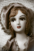 Collectible Photos - Old doll on old letter by Garry Gay