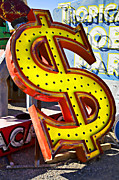 Yard Framed Prints - Old dollar sign Framed Print by Garry Gay