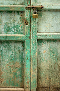 Weathered Wood Framed Prints - Old Door Framed Print by Adam Romanowicz