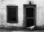 Jeff Holbrook Metal Prints - Old Door and Window Metal Print by Jeff Holbrook