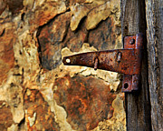 Hinge Framed Prints - Old Door Hinge Framed Print by Perry Webster