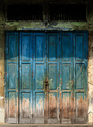 Antique Gate Posters - old door in China town Poster by Setsiri Silapasuwanchai