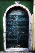 Wooden Building Posters - Old Door Poster by Joana Kruse