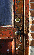 Old Lock Framed Prints - Old Door Framed Print by John  Bartosik