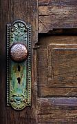 Old Door Framed Prints - Old Door Knob Framed Print by Joanne Coyle