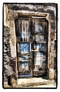 Bright Greeting Cards Pyrography Framed Prints - Old Door Framed Print by Mauro Celotti