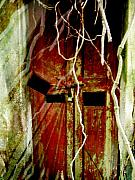 Old Door Set Two Haunted Print by Kathy Daxon