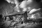 Shed Digital Art Posters - Old Dramatic Barn HDR Poster by Joe Gee
