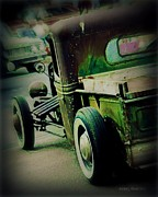 Red Street Rod Prints - Old Drive Print by Perry Webster