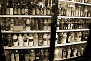 Tablets Photo Prints - Old Drug Store Goods Print by DigiArt Diaries by Vicky Browning