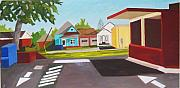 Streetscape Paintings - Old East Hill Post Office Pensacola by Jahna Jacobson