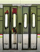 Metro Journey Posters - Old El Train Doors Poster by Jill Battaglia