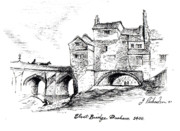 Below Drawings Framed Prints - Old Elvit Bridge  DURHAM Framed Print by James Richardson
