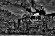 Train Tracks Photo Originals - Old Engine by Todd Hostetter