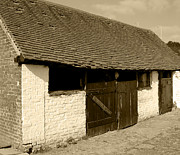Stable Photographs Greeting Cards Acrylic Prints - Old English Barn Farm Building Acrylic Print by Lynne Dymond