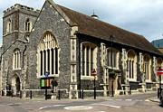 Old English Church Uxbridge Uk Print by Lynne Dymond