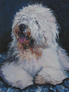 Sheepdog Posters - Old English Sheepdog Poster by Lee Ann Shepard
