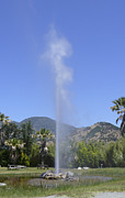 Travel Photography Prints - Old Faithful Geyser Print by Mike McGlothlen