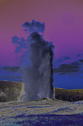 Old Faithful Geyser Framed Prints - Old Faithful Framed Print by Vijay Sharon Govender