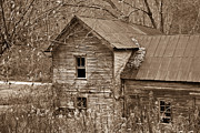 West Fork Framed Prints - Old Farm House in Sepia 6 Framed Print by Douglas Barnett