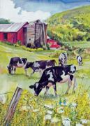 The Berkshires Posters - Old Farm Poster by P Anthony Visco