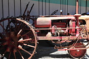 Old Farm Equipment Framed Prints - Old Farm Tractor . 5D16588 Framed Print by Wingsdomain Art and Photography