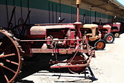 Old Farm Equipment Framed Prints - Old Farm Tractor . 5D16600 Framed Print by Wingsdomain Art and Photography