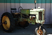 Old Tractors Posters - Old Farm Tractor . 5D16618 Poster by Wingsdomain Art and Photography