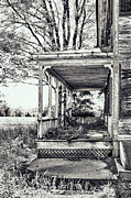 Lattice Framed Prints - Old Farmhouse Porch Framed Print by HD Connelly