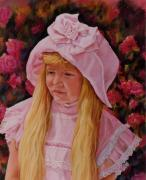 Little Girls Pastels - Old Fashion Roses by Ann Peck
