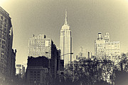 Building Digital Art Originals - Old-Fashioned Empire State Building by Alex AG