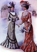 Old Dresses Posters - Old Fashioned Fashion Poster by Bill Cannon