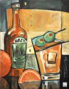 Bistro Paintings - Old Fashioned Sweet With Olives by Tim Nyberg