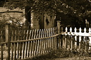 Crooked Fence Posters - Old fence at a historic house Poster by Sue McGlothlin