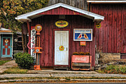 Old Mixed Media Metal Prints - Old Filling Station Metal Print by Edward Sobuta