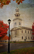 Photos Of Autumn Prints - Old First Church - Bennington Vermont Print by Thomas Schoeller