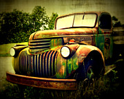 Chevy Truck Prints - Old Flatbed 2 Print by Perry Webster