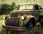 Paint Photograph Prints - Old Flatbed Print by Perry Webster