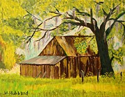 Old Shed Drawings Framed Prints - Old Florida Farm Shed Framed Print by Bill Hubbard