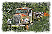 William Havle Art - Old Ford Flatbed by William Havle